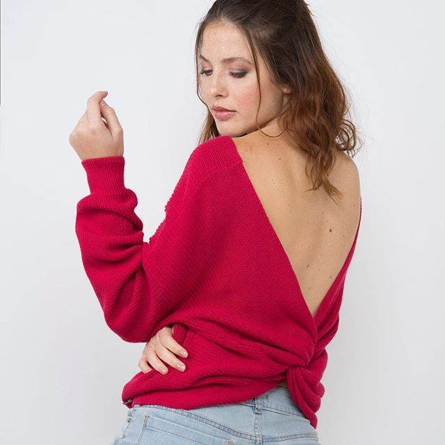 sweater hilo espalda abierta Enriquiana Tejidos verano 2020