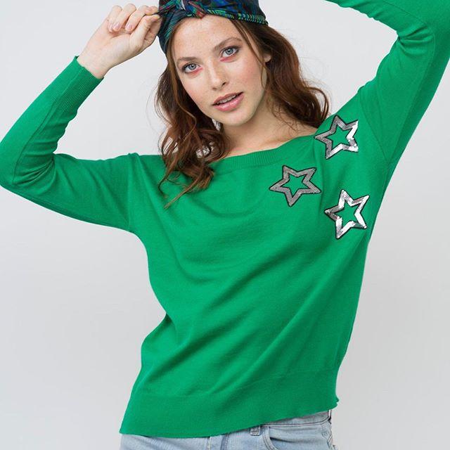 sweater hilo verde mujer juvenil Enriquiana Tejidos verano 2020