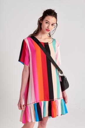 vestido a rayas colores urbano Benito Fernandez verano 2020