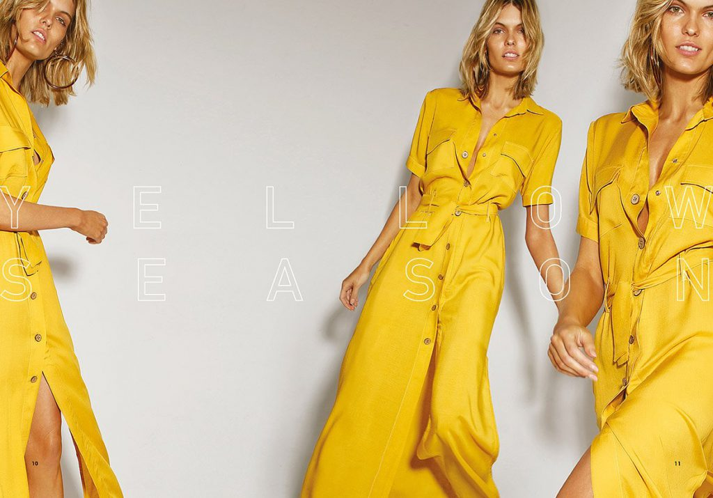 vestido camisero amarillo Garofalo verano 2020