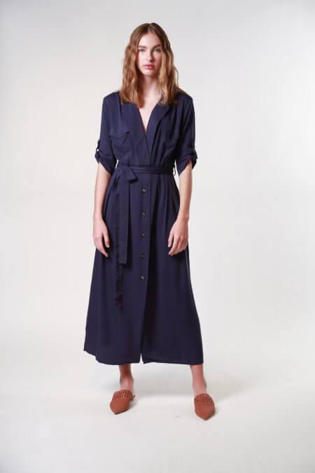 vestido camisero largo Nare verano 2020