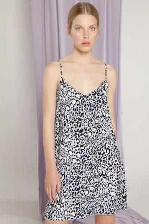 vestido casual animal print Materia Verano 2020
