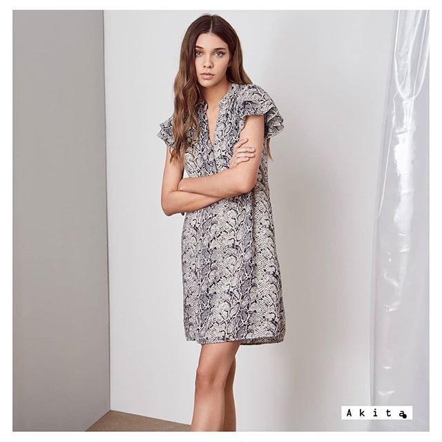 vestido casual recto estampado Akita verano 2020