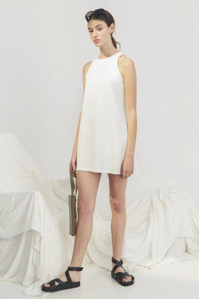 vestido corto blanco para la oficina Bled verano 2020