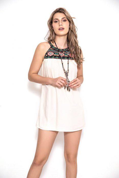 vestido corto casual hippi chic sophya verano 2020
