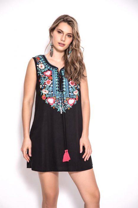 vestido corto urbano hippi chic sophya verano 2020