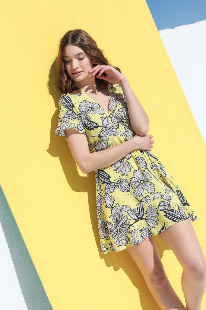 vestido fibrana casual Cenizas verano 2020