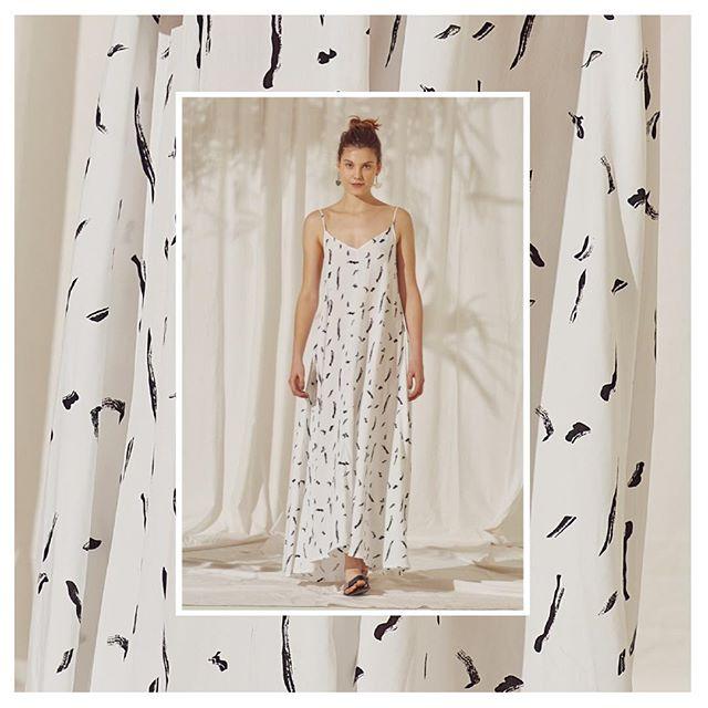 vestido largo estampado casual Silenzio verano 2020