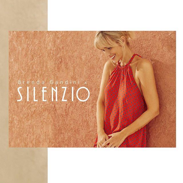 vestido rojo fibrana para señoras Silenzio verano 2020