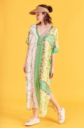 vestido urbano estilo tunica estampado Benito Fernandez verano 2020