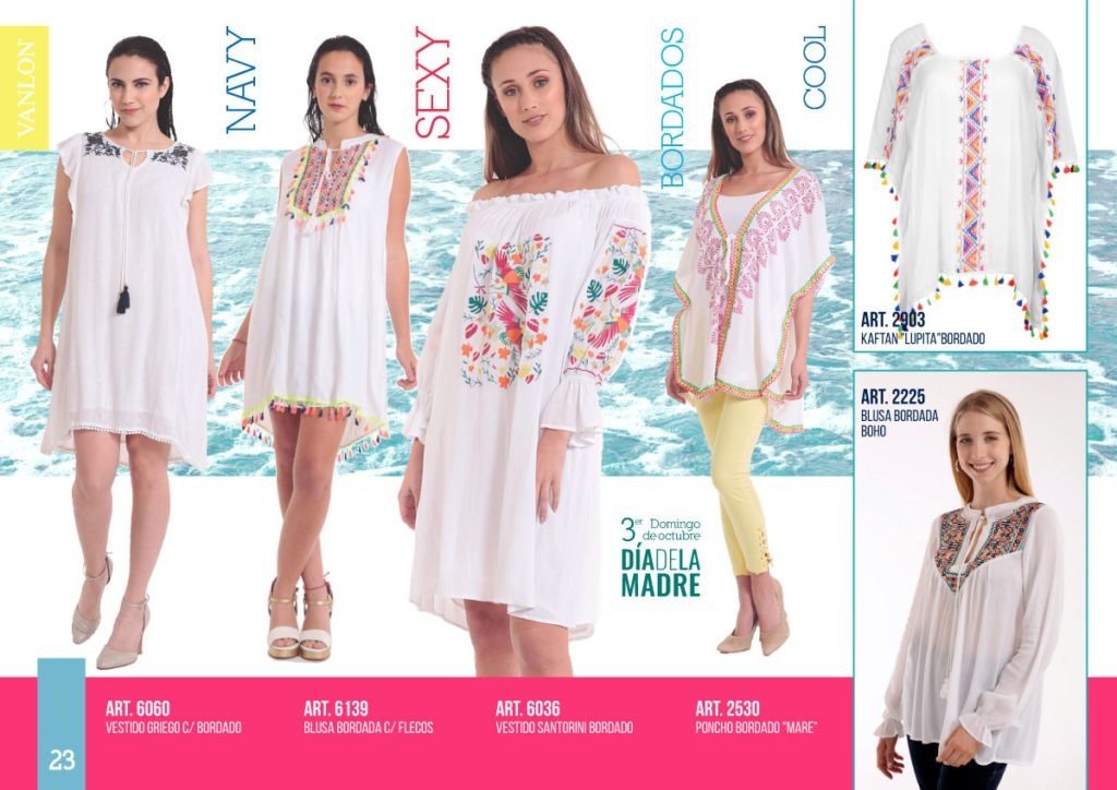vestidos blancos urbanos Vanlon verano 2020