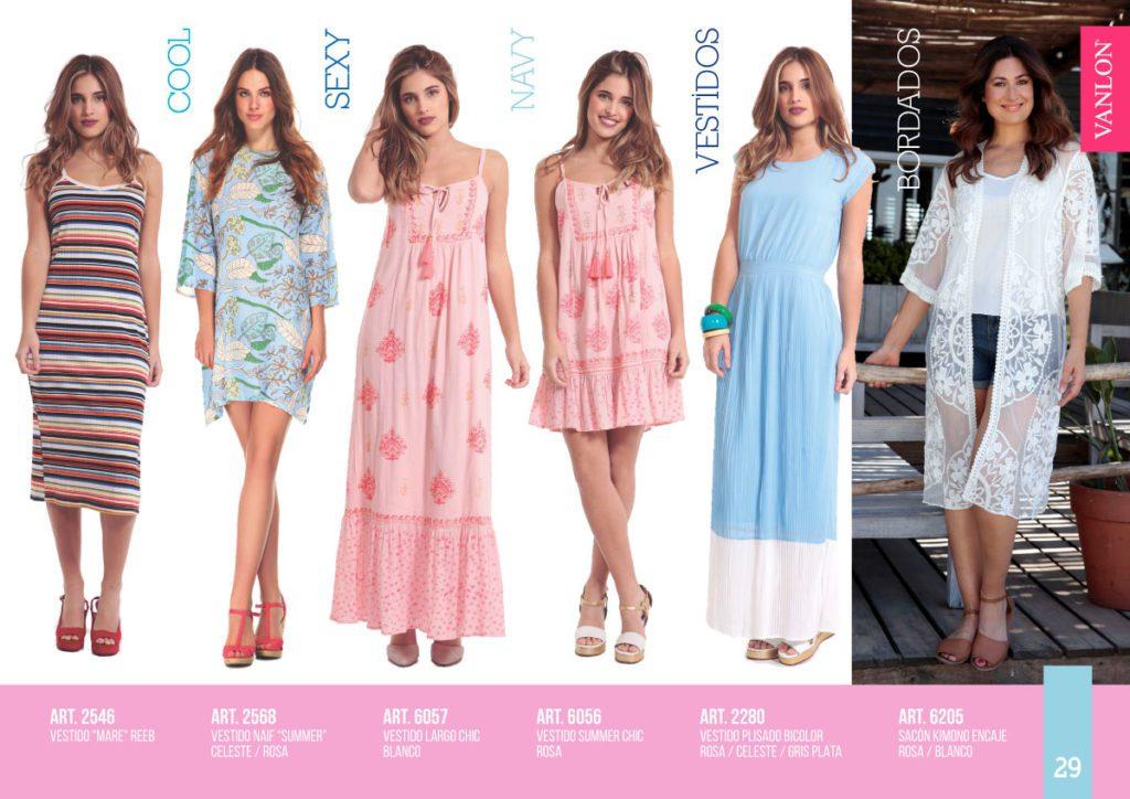vestidos urbanos Vanlon verano 2020