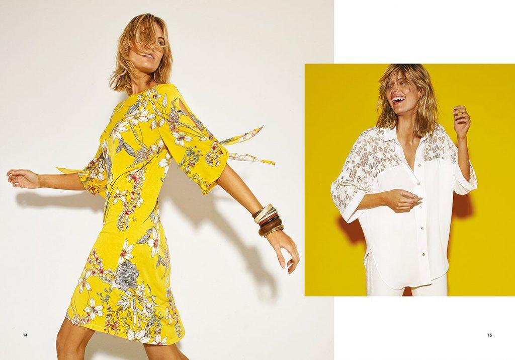 vestidos urbanos estampados Garofalo verano 2020