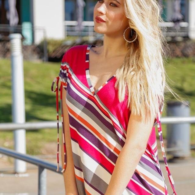 Anna Fey Blusa a rayas para señoras verano 2020