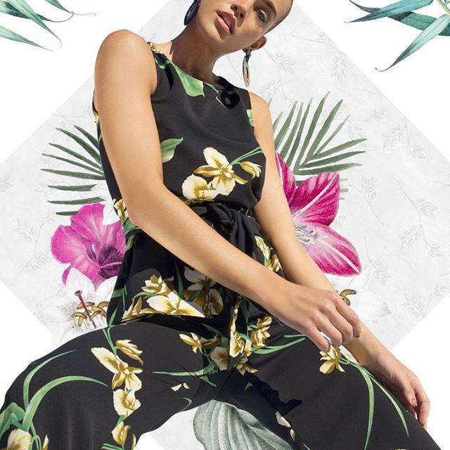 blusa musculosa y palazzo de seda estampada Anna Rossatti verno 2020