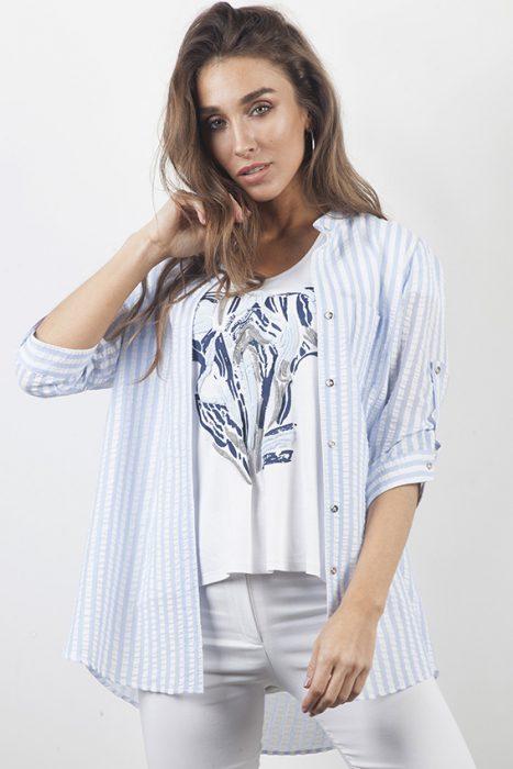 camisa a rayas mujer carla vianinni verano 2020