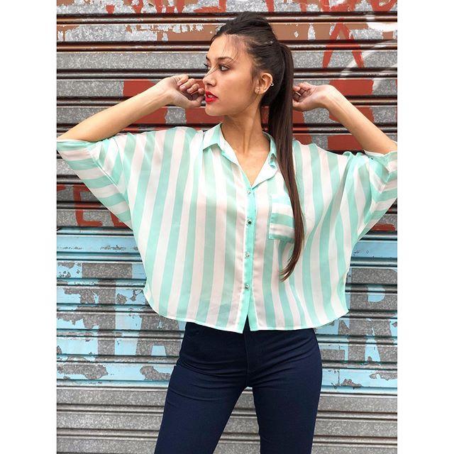 camisa a rayas mujer juvenil Alma jeans verano 2020