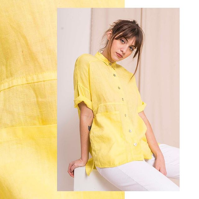 camisa amarilla mangas cortas mujer Zula verano 2020
