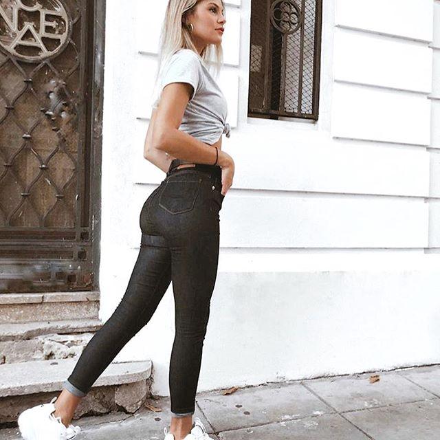 chupin engomado negro Desvio jeans verano 2020