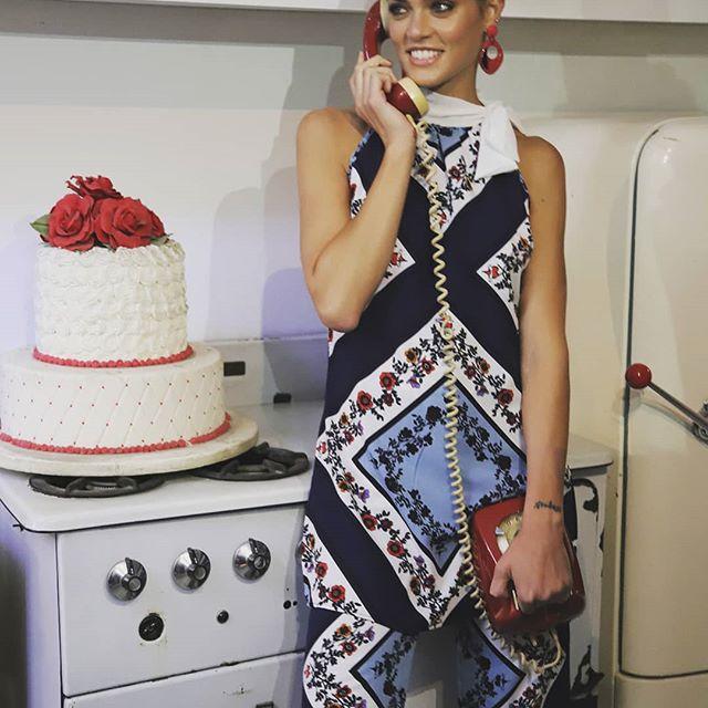 conjuntos de palazzo y blusa estampada elegante Anna Rossatti verno 2020