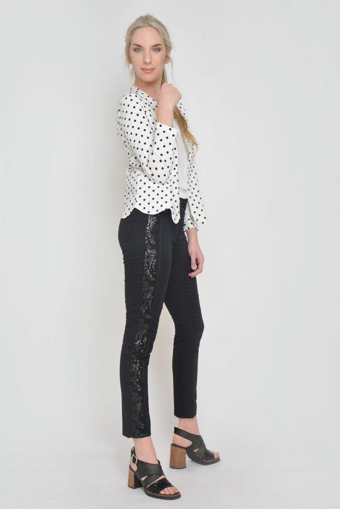 jeans negro con guarda lateral Moravia verano 2020