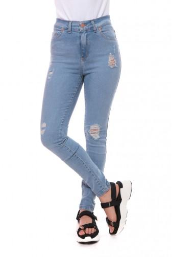 jeans tiro alto con roturas Vov jeans verano 2020