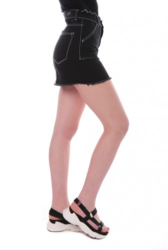 minifalda jeans negra elastizada Vov jeans verano 2020
