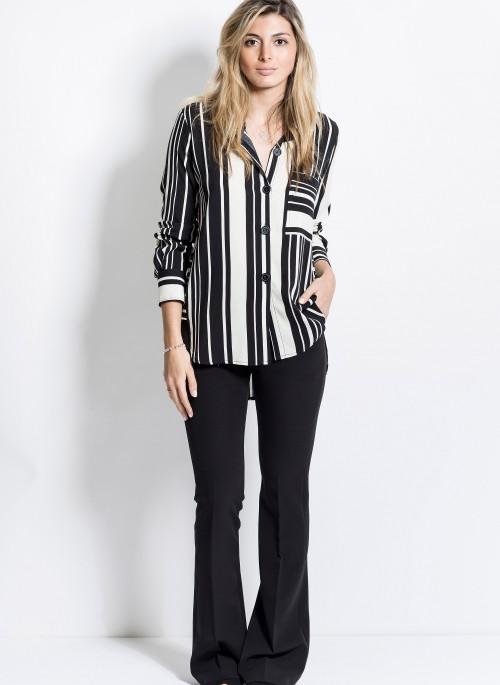 oxford negro y camisa a rayas mujer verano 2020 Activity
