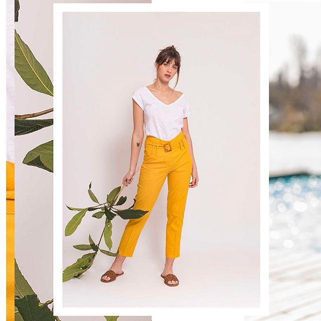 pantalon amarillo mujer Zula verano 2020
