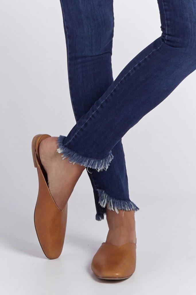 ruedo con flecos Viga Jeans verano 2020