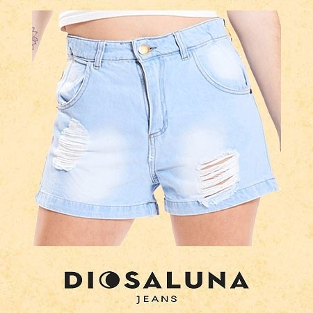 short jeans con roturas Diosa Luna verano 2020