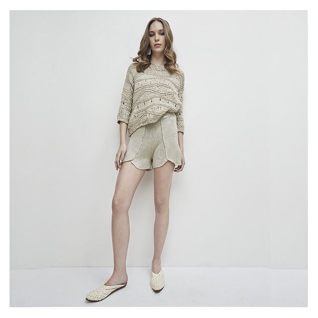 short tejidas en hilo verano 2020 Agustina Bianchi
