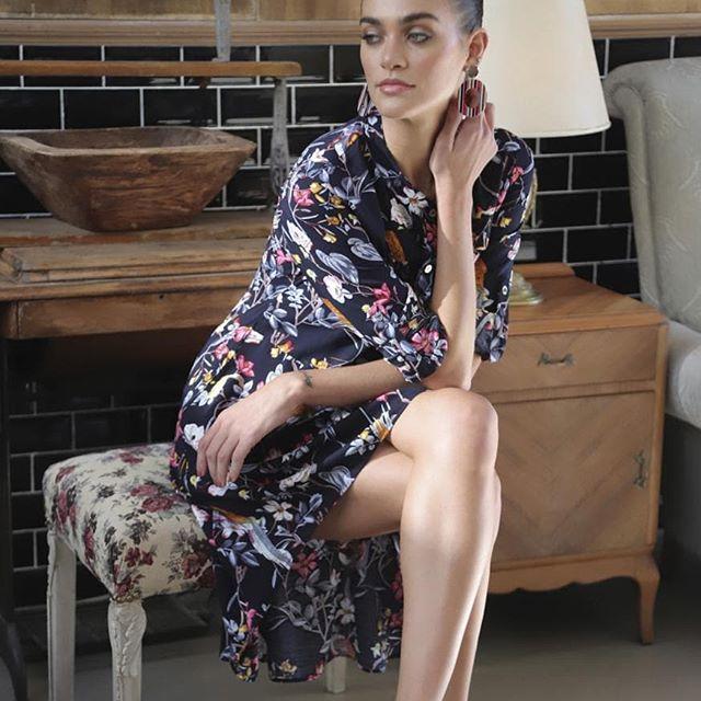 vestido camisero largo camisero Anna Rossatti verno 2020