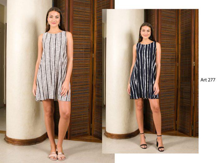 vestido corto rayas verticales señoras Arauz verano 2020