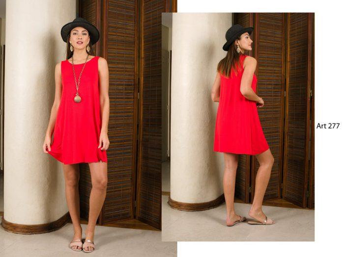 vestido corto rojo señoras Arauz verano 2020