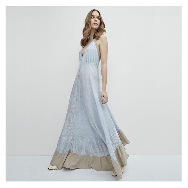 vestido largo tejidas en hilo verano 2020 Agustina Bianchi