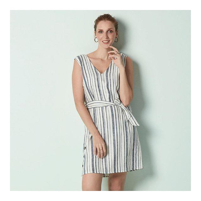 vestido lino corto Etam verano 2020