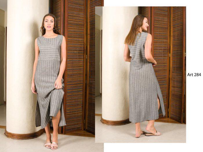 vestido recto largo urbano señoras señoras Arauz verano 2020