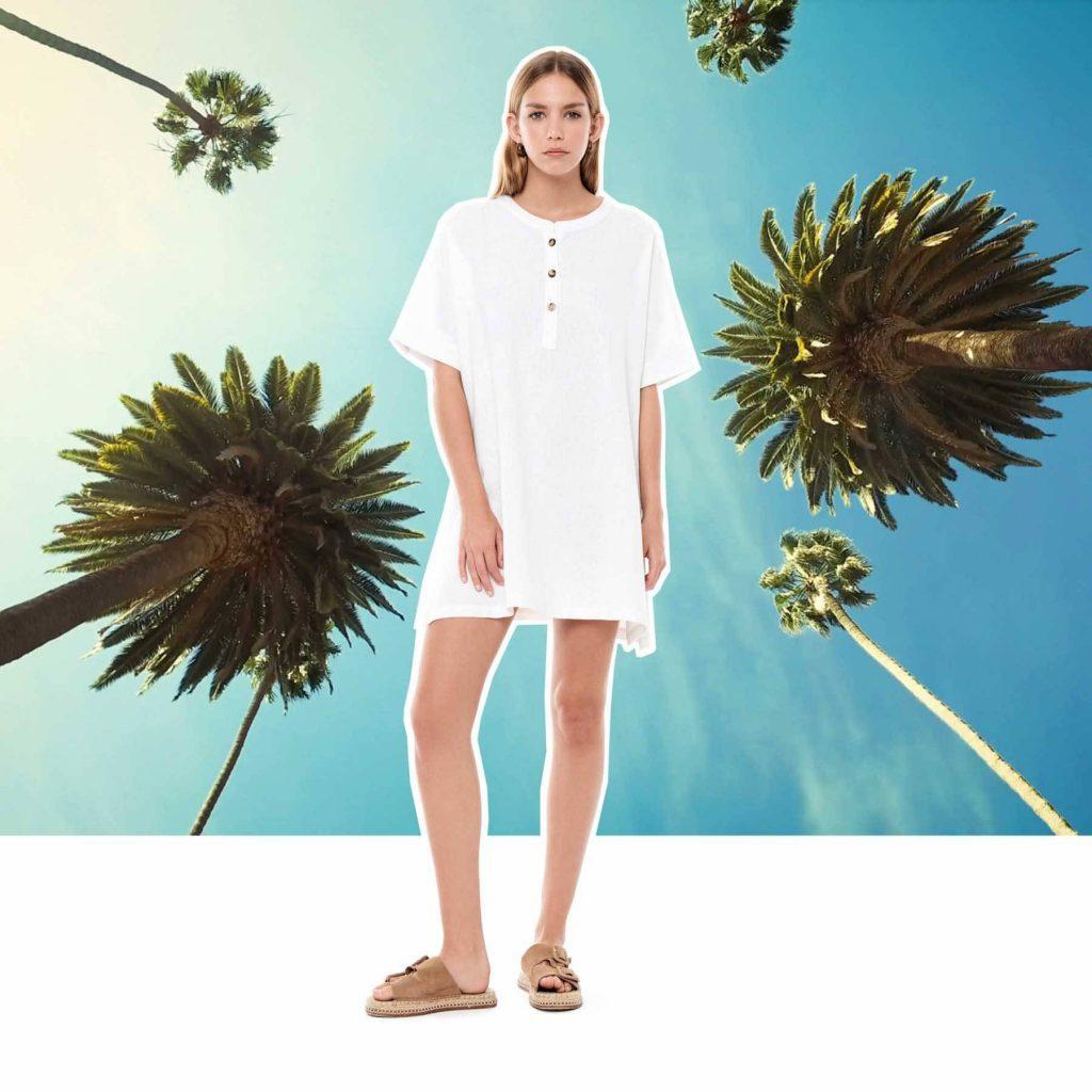 vestido remeron blanco Melocoton verano 2020