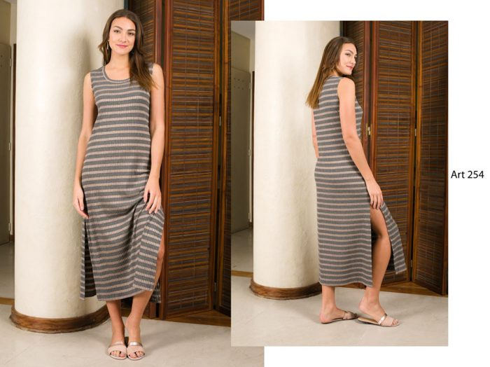 vestido tejido de hilo largo arauz verano 2020