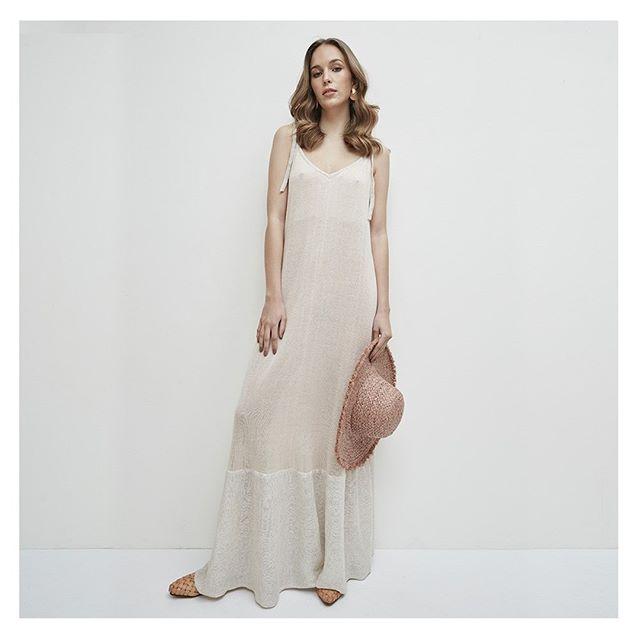 vestidos largos tejidas en hilo verano 2020 Agustina Bianchi