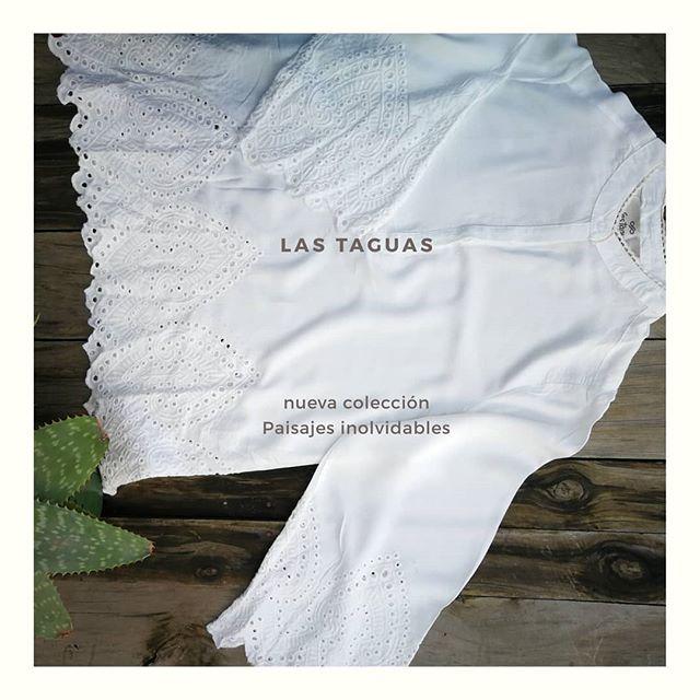 camisola blanca calada Las taguas verano 2020