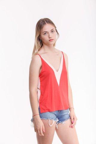 musculosa y short jeans rustico Estilo ambar verano 2020
