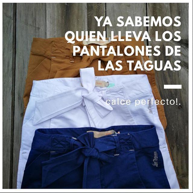 pantalones de gabardina con lazo Las taguas verano 2020