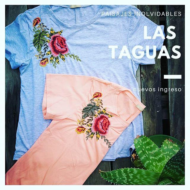 remeras bordadas en hilos Las taguas verano 2020