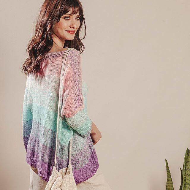sweater holgado liviano multicolor mujer Florencia Llompart verano 2020