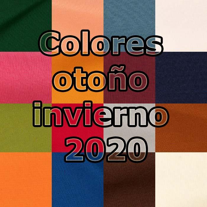 Colores de moda otoño invierno 2020