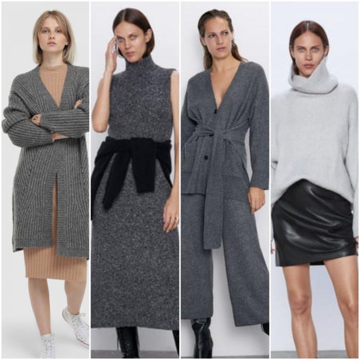 Prendas tejidas de punto para mujer tendencias invierno 2020