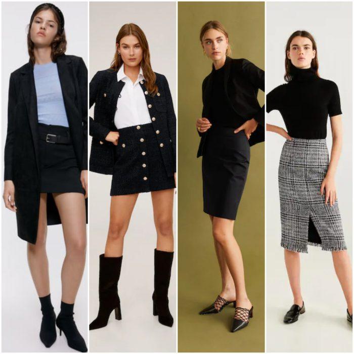 Tendencias otoño invierno 2020 looks working girl en falda