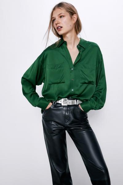 verdes de moda para este invierno 2020 zara